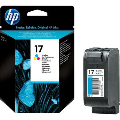 HP No.17 Tri-Colour InkJet Print Cartridge (480 Pages)