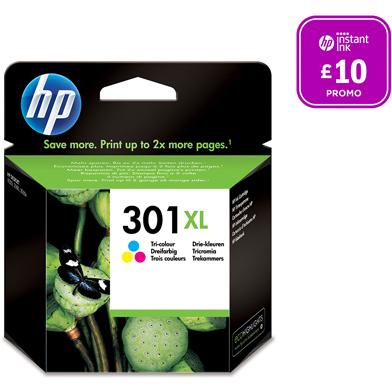 HP No.301XL Tri-Colour Ink Cartridge (CMY 330 Pages)