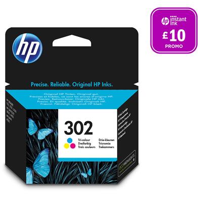 HP F6U65AE No.302 Tri-Colour Ink Cartridge (165 Pages)