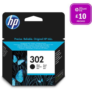 HP F6U66AE No.302 Black Ink Cartridge (190 Pages)