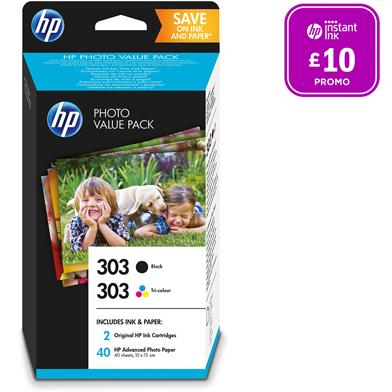 HP 303 Black/Tri-Color Photo Value Pack (40 Sheets)