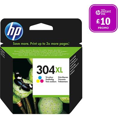 HP N9K07AE 304XL Tri-color Ink Cartridge (300 Pages)