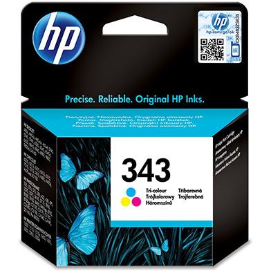 HP No.343 Tri-Colour Ink Cartridge (7ml)