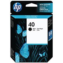 HP No.40 Black InkJet Cartridge (42ml)