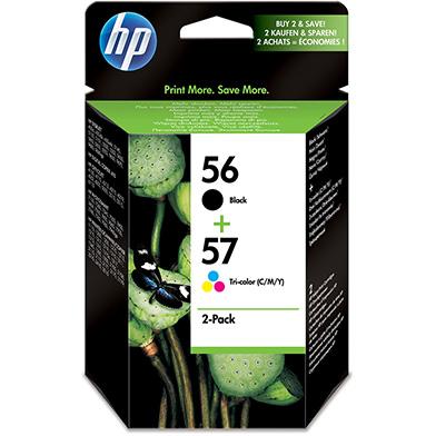 HP 56/57 (Black) 19ml + (Tri-Colour) 17ml Twin Pack