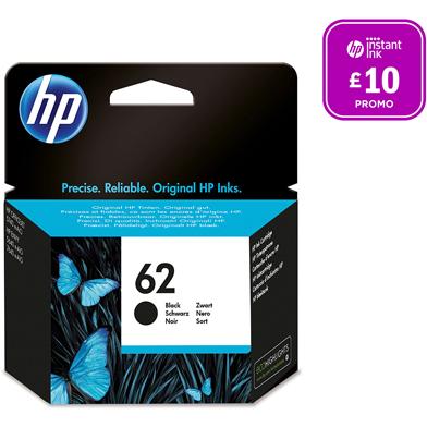 HP 62 Black Ink Cartridge (200 Pages)