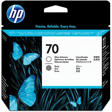 HP No.70 Gloss Enhancer and Grey Printhead