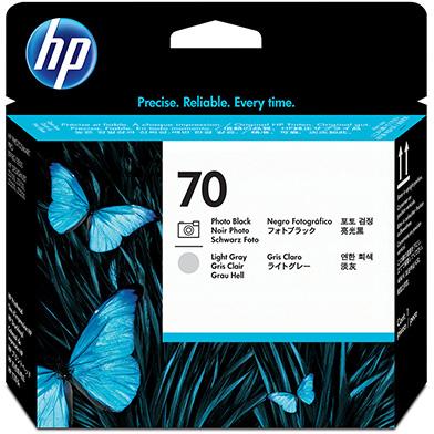 HP C9407A No.70 Photo Black and Light Grey Printhead
