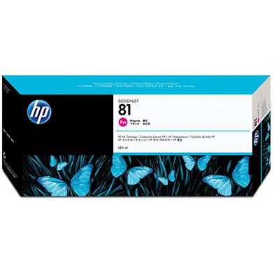 HP No.81 Magenta Dye Ink Cartridge (680ml)