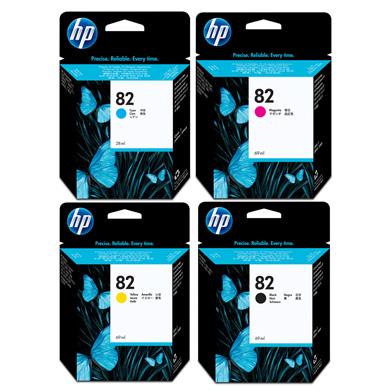 HP HP82INKVAL No.82 Ink Cartridge Bundle Pack (4 x 69ml)
