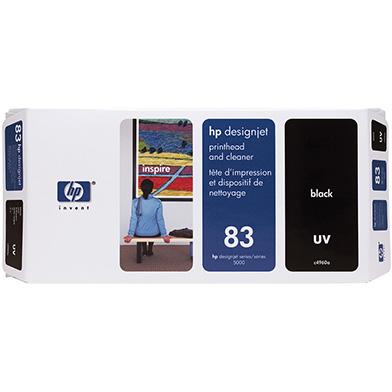 HP No.83 Black UV Printhead and Printhead Cleaner