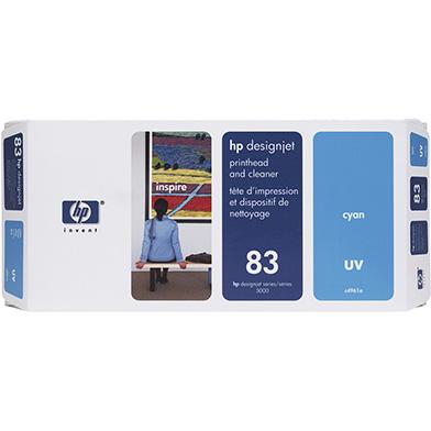 HP No.83 Cyan UV Printhead and Printhead Cleaner