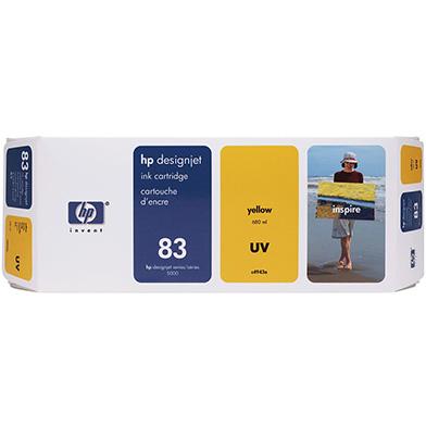 HP C4943A No.83 Yellow UV Ink Cartridge (680ml)