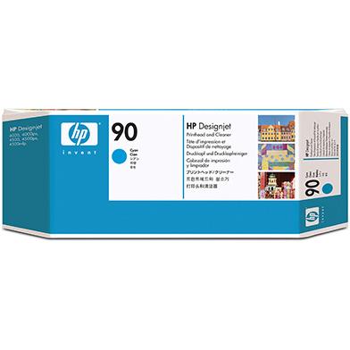 HP C5055A No.90 Cyan Printhead and Printhead Cleaner