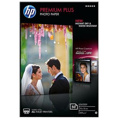HP Premium Plus Glossy Photo Paper 10 x 15cm (50 Sheets)