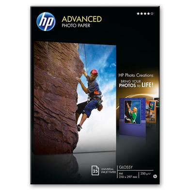 HP Q5456A Advanced Glossy Photo Paper - 250gsm (25 Sheets / A4 / 210 x 297 mm)