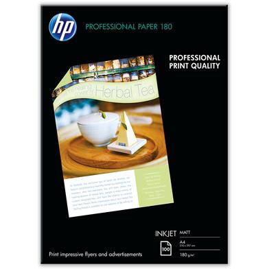 HP Q6592A Professional Inkjet Matte Paper - 180gsm (100 Sheets / A4 / 210 x 297 mm)