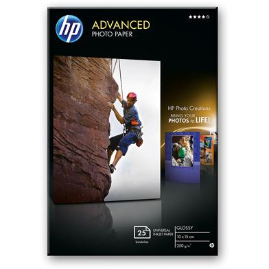 HP Q8691A Advanced Glossy Photo Paper - 250gsm (25 Sheets / 10 x 15 cm Borderless)