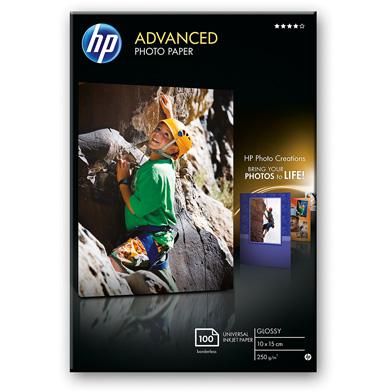 HP Q8692A Advanced Glossy Photo Paper - 250gsm (100 Sheets / 10 x 15 cm Borderless)