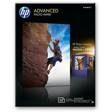 HP Q8696A Advanced Glossy Photo Paper - 250gsm (25 Sheets / 13 x 18 cm Borderless)