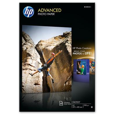 HP Q8697A Advanced Glossy Photo Paper - 250gsm (20 Sheets / A3 / 297 x 420 mm)
