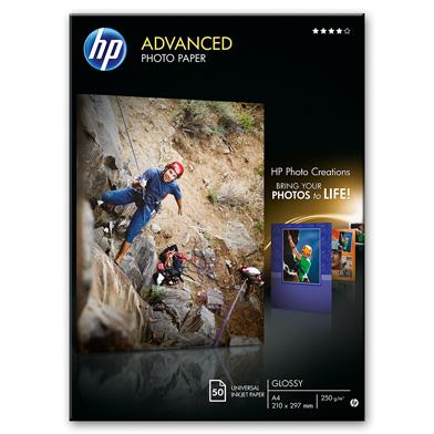 HP Q8698A Advanced Glossy Photo Paper - 250gsm (50 Sheets / A4 / 210 x 297 mm)