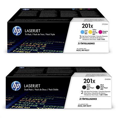 HP  201X Tri-Duo Toner Bundle Pack CMY (2.3K Pages) K (5.6K Pages)