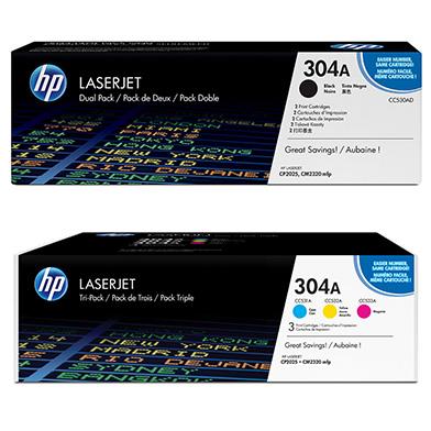 HP  304A Tri-Duo Toner Bundle Pack CMY (2.8K Pages) K (7K Pages)