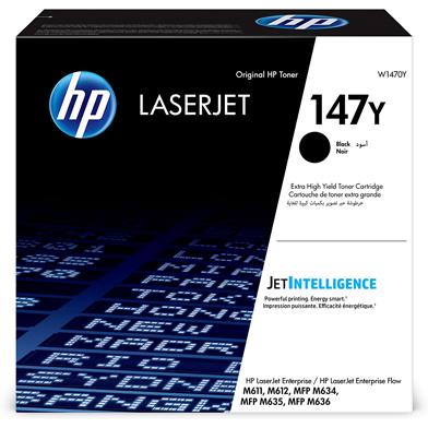 HP W1470Y 147Y Extra High Capacity Black Toner Cartridge (42,000 Pages)