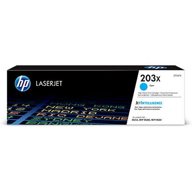 HP 203X High Capacity Cyan Toner Cartridge (2,500 Pages)