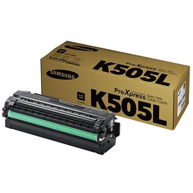 Samsung CLT-K505L Black Toner Cartridge (6,000 Pages)