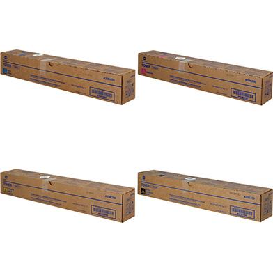Konica Minolta TN321 Toner Cartridge Value Pack CMY (25K Pages) K (27K Pages)