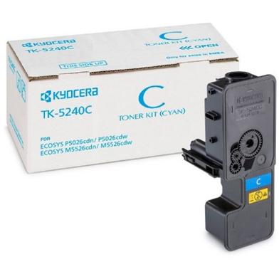 Kyocera 1T02R7CNL0 TK-5240C Cyan Toner Cartridge (3,000 Pages)