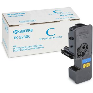 Kyocera 1T02R9CNL0 TK-5230C Cyan Toner Cartridge (2,200 Pages)