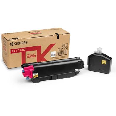 Kyocera 1T02TVBNL0 TK-5270M Magenta Toner Cartridge (6,000 Pages)