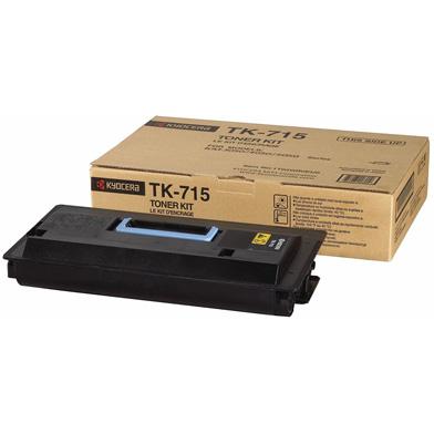 Kyocera 1T02GR0EU0 TK-715 Black Toner Cartridge (34,000 Pages)