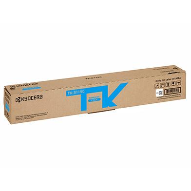 Kyocera TK-8115C Cyan Toner Cartridge (6,000 Pages)