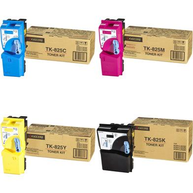 Kyocera TK825VAL TK-825 Toner Value Pack CMY (7K Pages) K (15K Pages)
