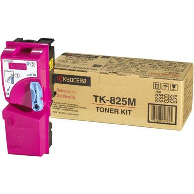 Kyocera 1T02FZBEU0 TK-825M Magenta Toner Cartridge (7,000 Pages)
