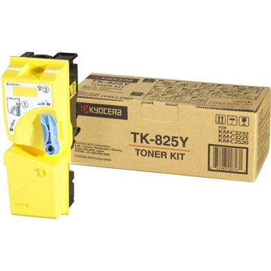 Kyocera TK-825Y Yellow Toner Cartridge (7,000 Pages)