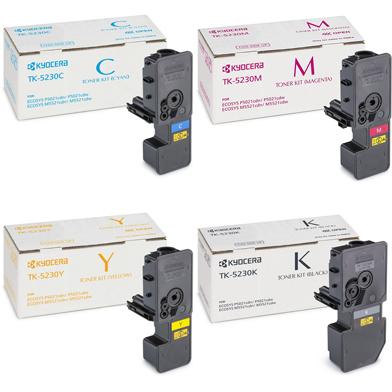 Kyocera TK-5230 Toner Cartridge Multipack CMY (2.2K Pages) K (2.6K Pages)