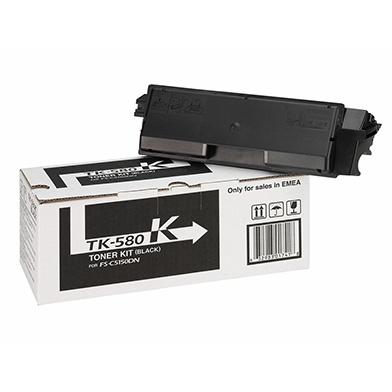 Kyocera 1T02KT0NL0 TK-580K Black Toner Cartridge (3,500 pages)