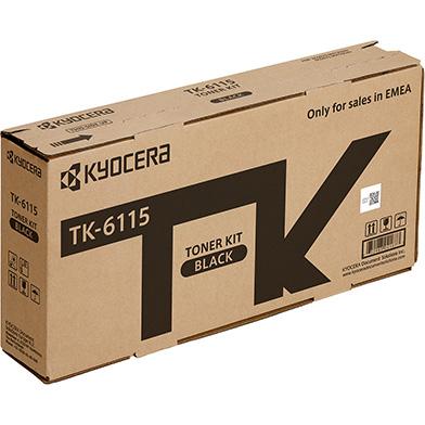 Kyocera 1T02P10NL0 TK-6115 Black Toner Cartridge (15,000 Pages)