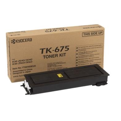 Kyocera 1T02H00EU0 TK-675 Black Toner Cartridge (20,000 Pages)