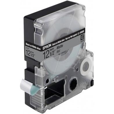 Epson LC-4SBE9 Black/Matt Silver 12mm (9m) tape