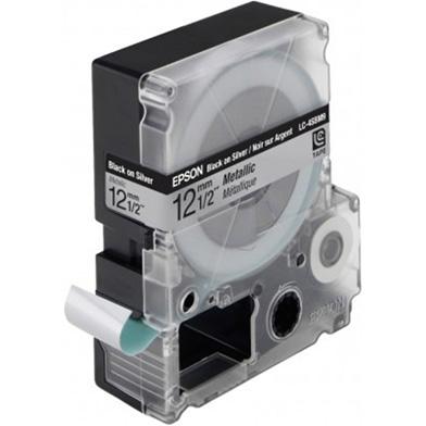 Epson LC-4SBM9 Black/Silver 12mm (9m) tape