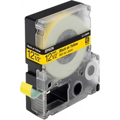 Epson LC-4YBP9 Black/Yellow 12mm (9m) tape
