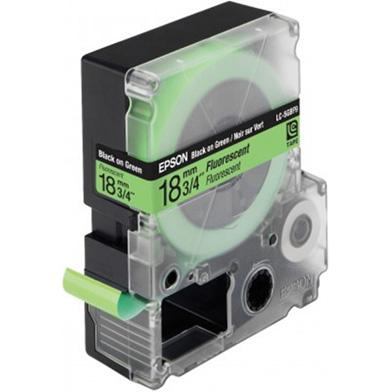 Epson LC-5GBF9 Black/Green 18mm (9m) tape
