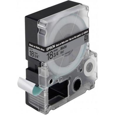 Epson LC-5SBE9 Black/Matt Silver 18mm (9m) tape