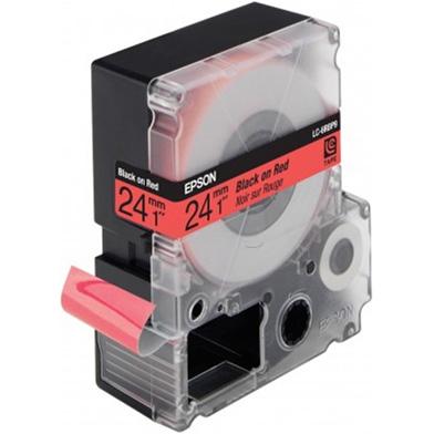 Epson LC-6RBP9 Black/Red 24mm (9m) tape